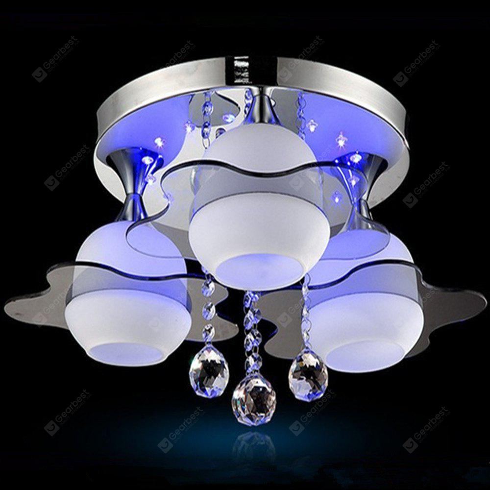 5W Stylish Three Heads Electrodeless Dimming LED Ceiling Lamp 220V