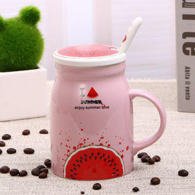 400Ml Summer Profusion Creative Ceramic Cup