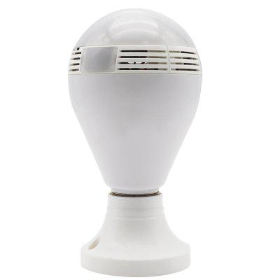 IPC - F62 360 Degree IR LED Bulb Light Night Vision 960P WiFi Wireless P2P Cloud Security Network Panoramic IP CameraIP Cameras<br>IPC - F62 360 Degree IR LED Bulb Light Night Vision 960P WiFi Wireless P2P Cloud Security Network Panoramic IP Camera<br><br>APP Language: English,Chinese<br>Audio Input: Built-in mic.<br>Audio Output: Built-in speaker<br>Backlight Compensation: Auto<br>Compatible Operation Systems: Android,IOS<br>Electronic Shutter: Support<br>Features: HD<br>FOV: 360 Degree<br>Interface: TF Card Slot<br>IP camera performance: Interphone, Motion Detection, Remote Control<br>IP Mode: Dynamic IP address<br>Language: English,Chinese<br>Local-storage: Micro SD card up to 64GB<br>Maximum Monitoring Range: 10<br>Mobile Access: iPad,Android,IOS<br>Model: IPC - F62<br>Motion Alarm: Support<br>Motion Detection Distance: 10<br>Operate Temperature (?): -10 - 50<br>Package Contents: 1 x Camera, 1 x English User Manual<br>Package size (L x W x H): 17.20 x 11.20 x 9.50 cm / 6.77 x 4.41 x 3.74 inches<br>Package weight: 0.5000 kg<br>Product size (L x W x H): 8.50 x 8.50 x 15.50 cm / 3.35 x 3.35 x 6.1 inches<br>Product weight: 0.2000 kg<br>Protocol: HTTP,DHCP<br>Resolution: 1280 x 960<br>Safety: WEP, WPA, WPA2 encryption<br>Sensor: CMOS<br>Shape: Bulb Camera<br>Technical Feature: WiFi<br>Video Compression Format: H.264<br>Video Resolution: 960P<br>Waterproof: No<br>WiFi Distance: 10<br>Wireless: WiFi 802.11 b/g/n<br>Working Voltage: 110 - 240 V