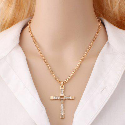 Female Fashion Chain Cross Necklace
