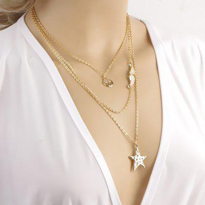 Women's Fashion Star Wings Multi Layered Necklace