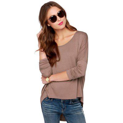 Europe and The United States Women'S New Loose Big Size Long Sleeve T-Shirt