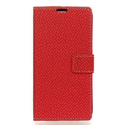 Woven Pattern Texture Wallet Leather Stand Cover Phone Cases for iPhone 8