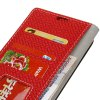 Woven Pattern Texture Wallet Leather Stand Cover Phone Cases for iPhone 8 - RED