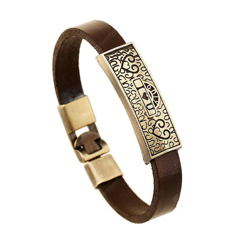 Bracciale da uomo Fashion Letter Design Trendy Chic All Match Accessorio in lega