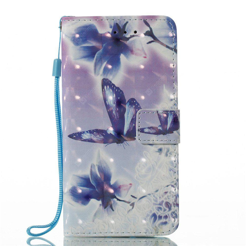 3D Painted Butterfly Leather Case for iPhone X