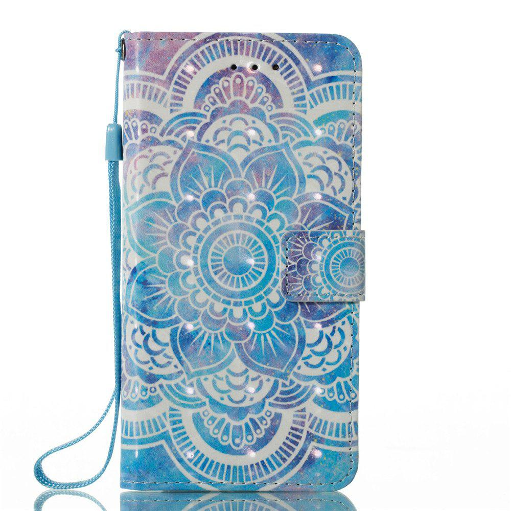 3D Painted Mandala Pattern Leather Case for iPhone X