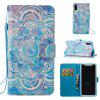 3D Painted Mandala Pattern Leather Case for iPhone X - BLUE