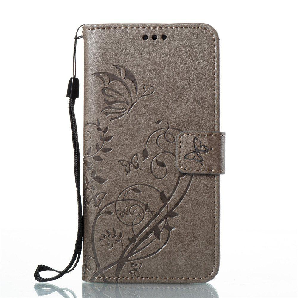 Single-sided Embossed Leather Case for iPhone X