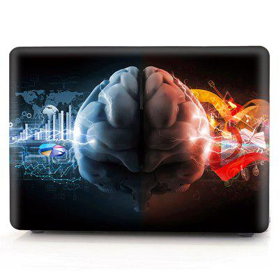 Computer Shell Laptop Case Keyboard Film Set for MacBook Pro 15.4 inch Touch 2016 -3D Glare Left and Right Brain