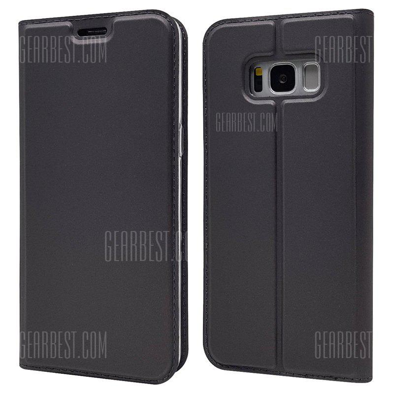 Ultra fino Flip Magnetic PU Leather Phone Cover para Samsung Galaxy S8