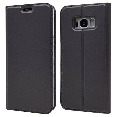 Ultra fino Flip Magnetic PU Leather Phone Cover para Samsung Galaxy S8 Plus