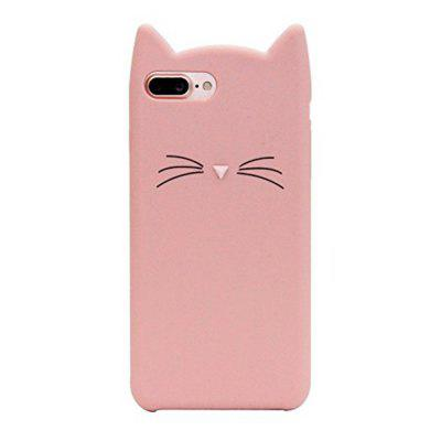 Pattern Back Cover Beard Cat Soft Silicone Case for iPhone 8 Plus / 7 Plus