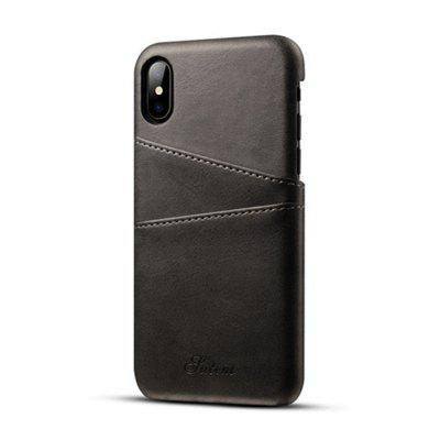 For iPhone X Case Leather Wallet Card Phone Back Shell