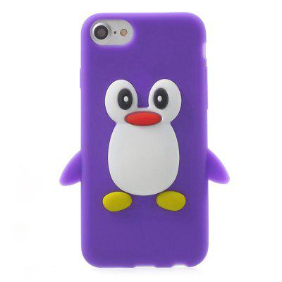 Case for iPhone 8/7 Pattern Back Cover Cartoon Penguin Soft Silicone