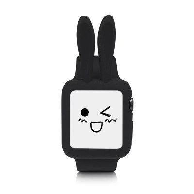 Cute Cartoon Rabbit Ears Soft Silicone Protective Case for Apple Watch i Watch Series 2 Colorful Cover Shell 38 mm