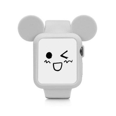 Cute Cartoon Mouse Ears Soft Silicone Protective Case for Apple Watch Colorful Cover Series 2 42mm
