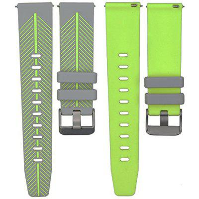 22mm Quick Release Watch Band Double Color Silicone Rubber Wrist Strap for Samsung Gear S3 Classic / Frontier
