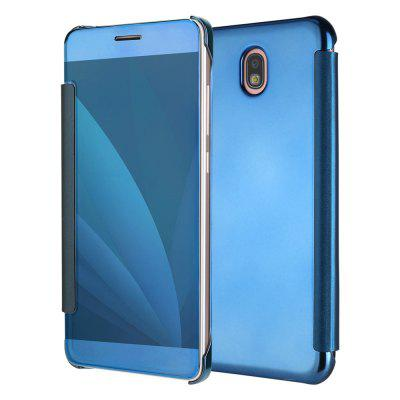 Luxury Clear Mirror Plating Flip Ultra Thin Cover Case for Samsung  Galaxy J730 / J7 Pro