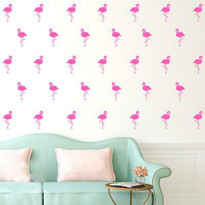 Kids Room Decoration Flamingo Wall Stickers PVC Removable Decal 15 Pcs/lot