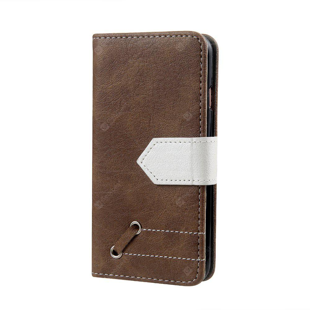Vintage Small Hit Color PU Leather Wallet Case para iPhone 6 Plus