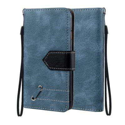 Vintage Small Hit Color PU Leather Wallet Case para iPhone 8