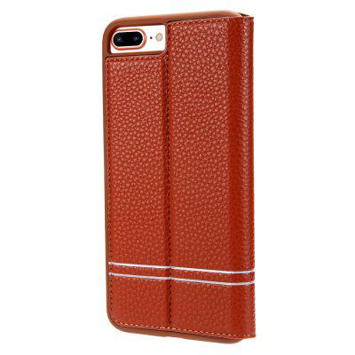 Light Sense Series PU Leather Wallet Case for iPhone 7 Plus g case noble series leather coated hard cover for iphone 7 plus 5 5 inch red