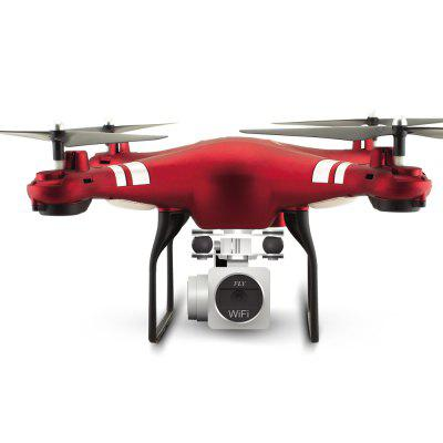 RC Drone RTF  With 1080P HD Camera Quadcopter One Key Auto Return Height Holding  -  RedRC Quadcopters<br>RC Drone RTF  With 1080P HD Camera Quadcopter One Key Auto Return Height Holding  -  Red<br><br>Battery: 3.7V 750mAh<br>Built-in Gyro: 6 Axis Gyro<br>Camera Pixels: 1080P<br>Channel: 4-Channels<br>Charging Time.: 100mins<br>Compatible with Additional Gimbal: No<br>Control Distance: 50-100m<br>Detailed Control Distance: 80~100m<br>Features: WiFi FPV, WiFi APP Control, Camera<br>Flying Time: 7~8mins<br>FPV Distance: 50m<br>Functions: Sideward flight, Turn left/right, Up/down, WiFi Connection, Air Press Altitude Hold, Self altitudes and position hold, Over-current Protection, Headless Mode, 3D rollover, Aerial Photography, Auto Hover, Auto Landing, Forward/backward, Gravity Sense Control, Hand Launching, Low-voltage Protection, Height Holding, One Key Taking Off, One Key Landing, One Key Automatic Return<br>Level: Beginner Level<br>Material: Electronic Components, Plastic<br>Mode: Mode 2 (Left Hand Throttle)<br>Model Power: Built-in rechargeable battery<br>Night Flight: Yes<br>Package Contents: 1 x Quadcopter ( Battery Included ), 1 x 1080P Camera, 1 x Remote Control, 1 x Screwdriver, 4 x Propeller Blades, 4 x Blade Protection Covers, 2 x Landing Gears, 1 x English And Chinese Manual<br>Package size (L x W x H): 28.50 x 28.50 x 12.00 cm / 11.22 x 11.22 x 4.72 inches<br>Package weight: 0.6200 kg<br>Product size (L x W x H): 31.50 x 31.50 x 11.00 cm / 12.4 x 12.4 x 4.33 inches<br>Product weight: 0.1200 kg<br>Radio Mode: Mode 2 (Left-hand Throttle),WiFi APP<br>Remote Control: 2.4GHz Wireless Remote Control,WiFi Remote Control<br>Sensor: Barometer<br>Size: Large<br>Transmitter Power: 4 x 1.5V AA battery(not included)<br>Type: Quadcopter<br>Video Resolution: 1920x1080P