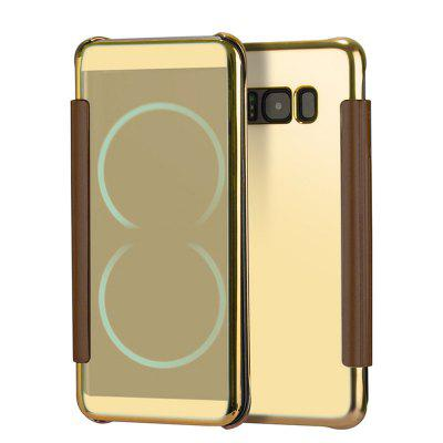 Espelho Flip Leather Clear View Window Smart Case para Samsung Galaxy S8