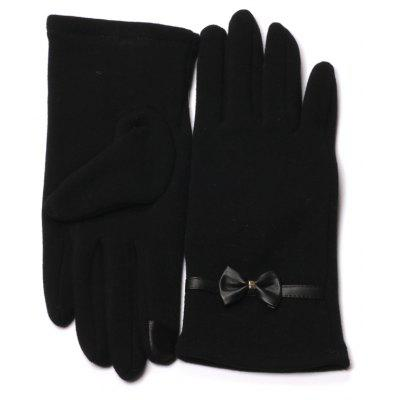 Winter Gloves for Women with Touch Screen Fingers Warm Texting Bowknot