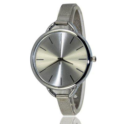 Zhoulianfa Fashion Simple Stainless Steel Mesh Band Watch Unisex Quartz Watch