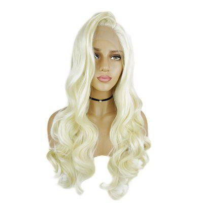 Long Blonde Hair Lace Front Wig Synthetic Heat Restaurant