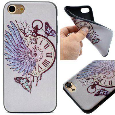Pocket Watch Pattern Soft TPU Silicon Case Cover For iPhone 7/8