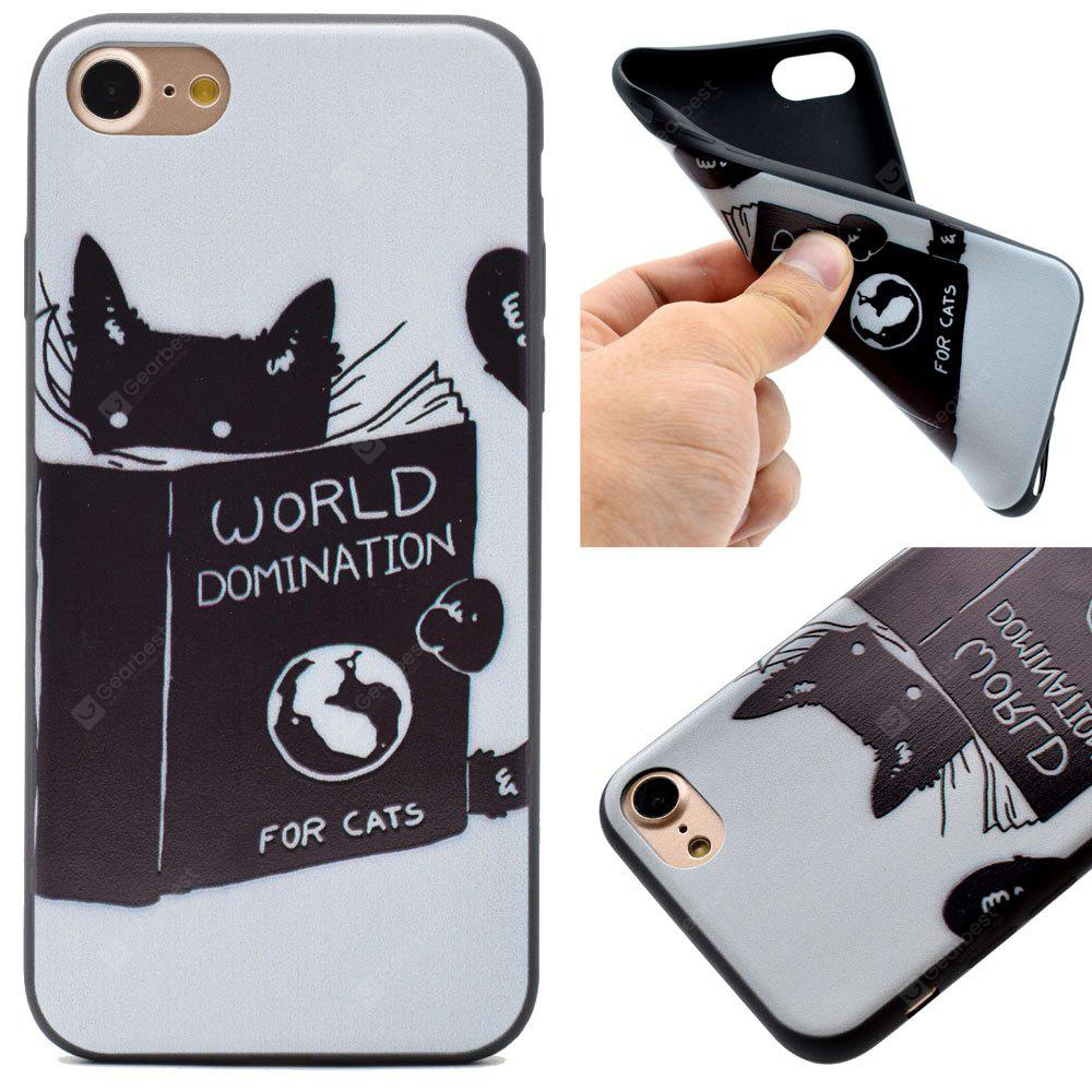 The Cat Pattern Soft TPU Silicon Case Cover For iPhone 7/8