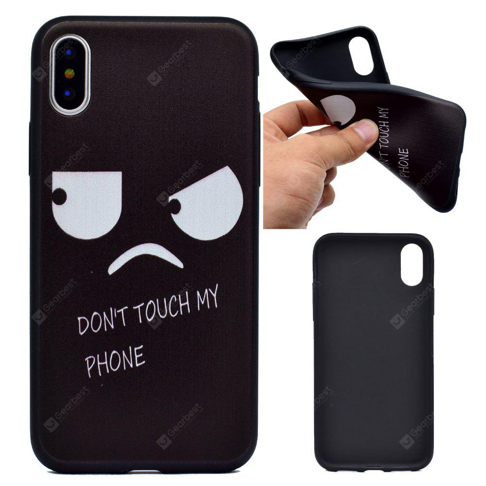 Angry Face Soft TPU Silicon Case Cover For iPhone X