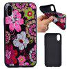 Flowers Soft TPU Silicon Case Cover For iPhone X - COLORFUL