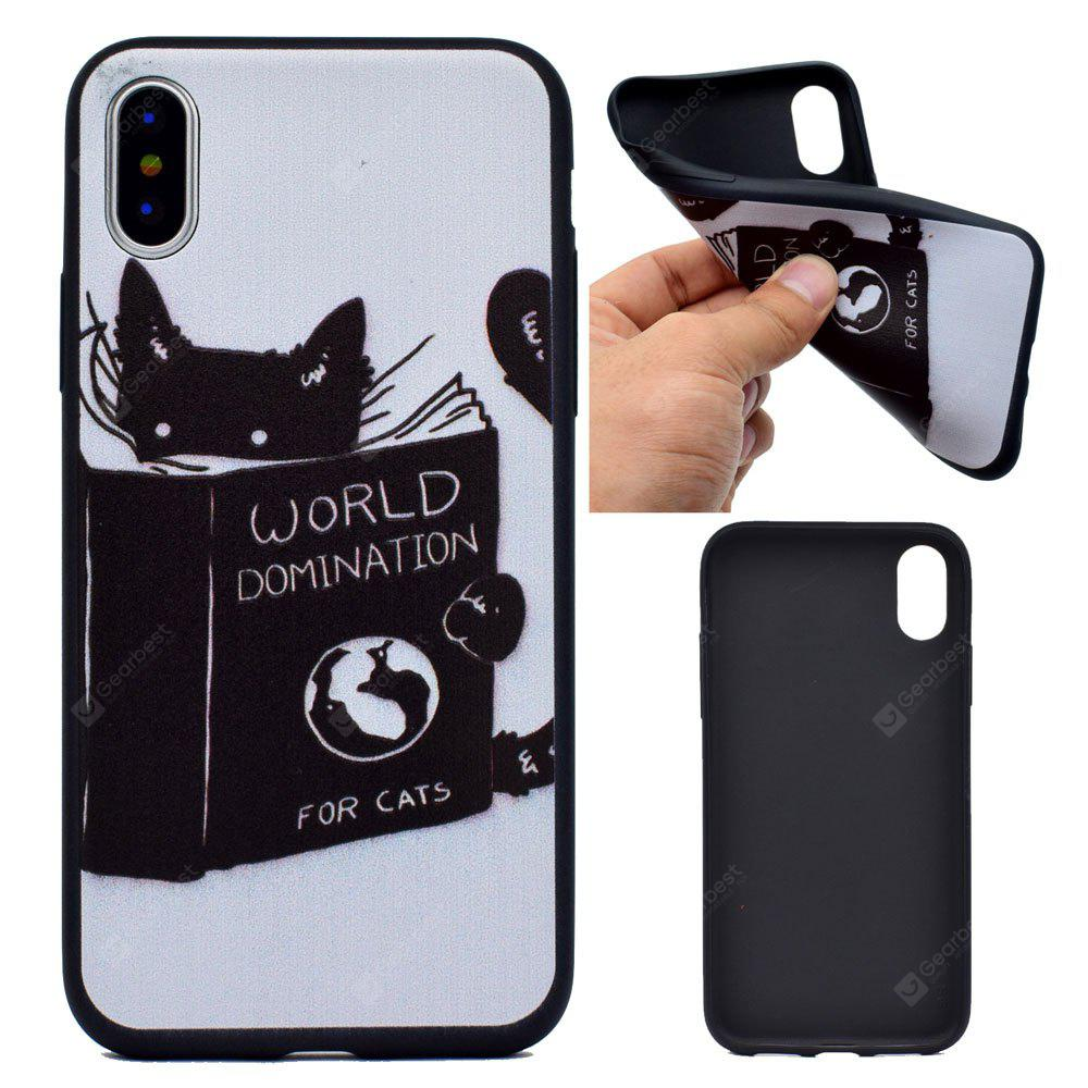 The Cat Soft TPU Silicon Case Cover For iPhone X