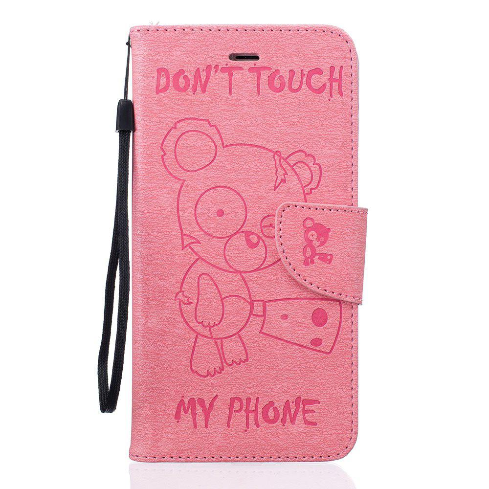Little Bear Carteira em relevo Flip PU Leather Card Holder Case permanente para iPhone 6 / 6s