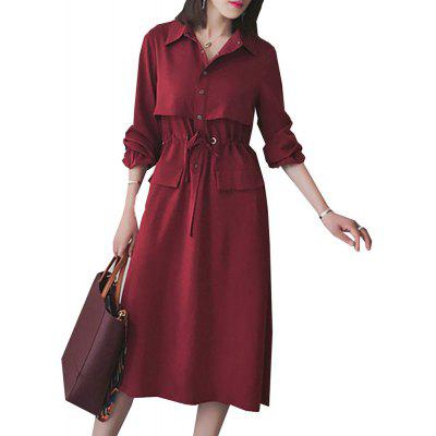 Womens Shirt Dress Solid Slimming Plus Size DressPlus Size Dresses<br>Womens Shirt Dress Solid Slimming Plus Size Dress<br><br>Dresses Length: Knee-Length<br>Elasticity: Nonelastic<br>Fabric Type: Broadcloth<br>Material: Cotton, Polyester<br>Model Number: L0585155<br>Neckline: Turn-down Collar<br>Package Contents: 1X Dress<br>Pattern Type: Solid<br>Season: Fall<br>Silhouette: A-Line<br>Sleeve Length: Long Sleeves<br>Style: Fashion<br>Weight: 0.2400kg<br>With Belt: No