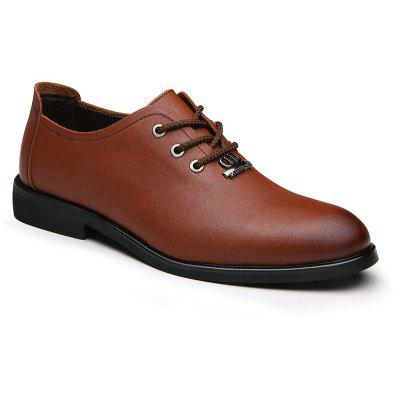 Men's Dress Shoes Business Durable Pointed Toe Lacing Formal Shoes