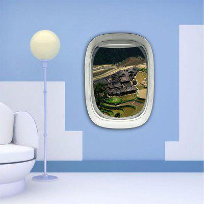 Personalized Creative Fashion 3D Plane Window Home Landscape Home Wall Stickers