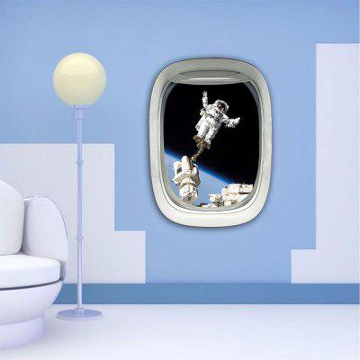 Personalized Creative Fashion 3D Plane Astronauts Home Background Wall Stickers