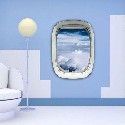 Personalized Creative Fashion 3D Aircraft Window Blue Sky Home Background Wall Stickers