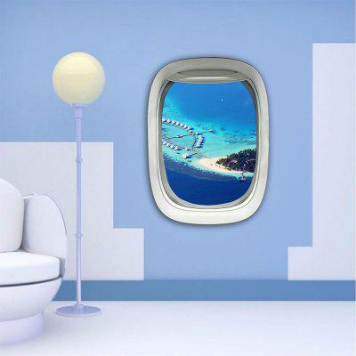 Personalized Creative 3D Airplane Window Romantic Love Island Home Background Wall Stickers