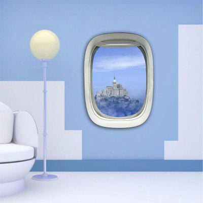 Personalized Creative 3D Plane Window Castle Home Wall Stickers