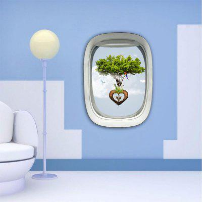 Personalized Creative 3D Aircraft Window Love Floating Island Home Background Wall Stickers