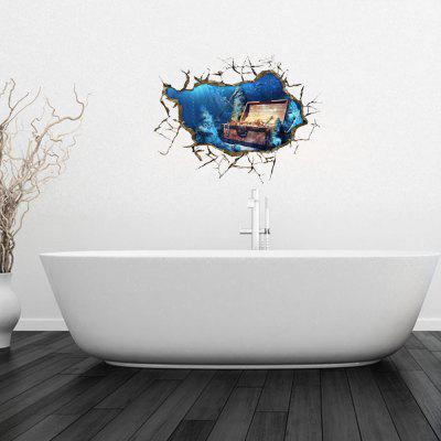 Personalized Creative 3D Deep Sea Treasure Home Background Wall Stickers