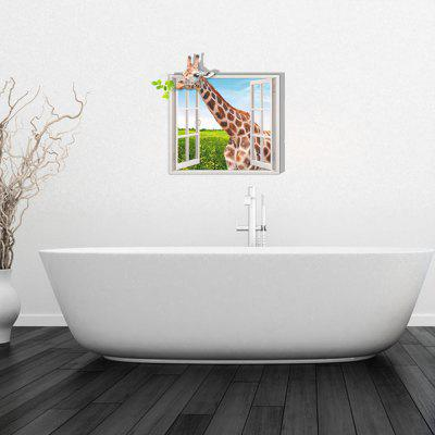 Personalized Creative Fashion 3D Giraffe Home Background Wall Stickers