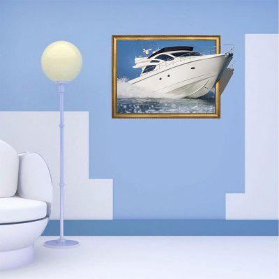 Personalized Creative Fashion 3D Traveling Yacht Home Background Wall Stickers 21cm 7cm rescue dogs make the best pets fashion text creative personality stickers car stickers c3 0136