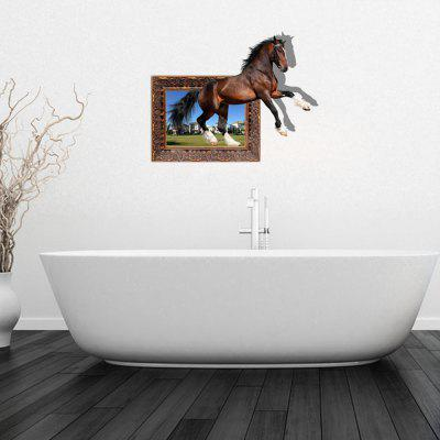 Personalized Creative 3D Running Horse Home Background Wall Stickers